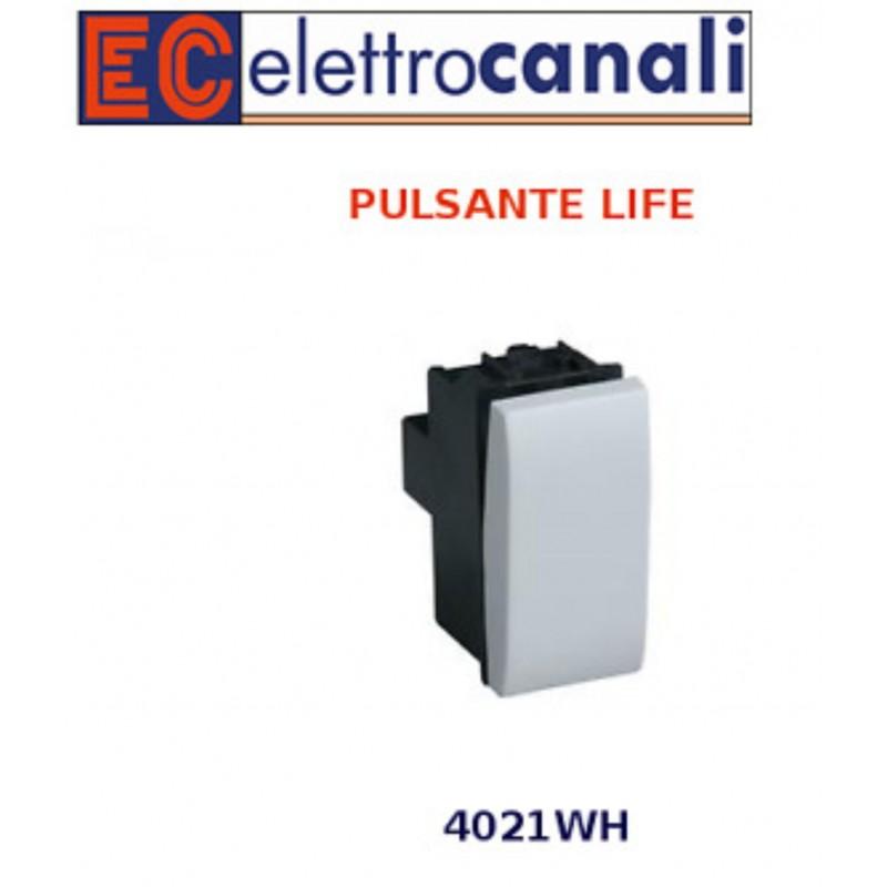 Elettrocanali Life Pulsante Unipolare ECL 4021WH Compatibile LIVING LIGHT