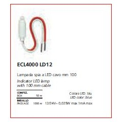 ECL 4000 LD WH Portalampada e spia LED, LEd AC 220 V  MY LIFE ELETTROCANALI bianco