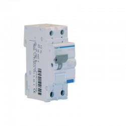HAGER ADC816H INTERRUTTORE AUTOMATICO MAGNETOTERMICO DIFFERENZIALE BIPOLARE 1P+N 30mA AC 16A 4.5KA