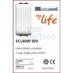 Interruttore unipolare  ECL 4000 WH