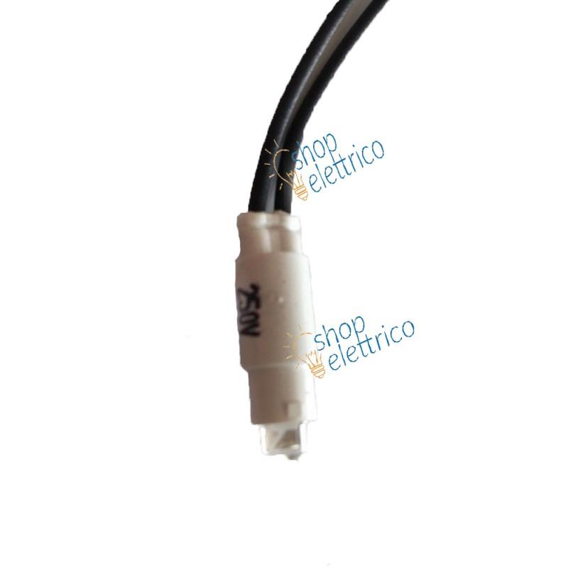 ecl 4000 ld wh Portalampada e spia Led AC 220 V cavo mm 100